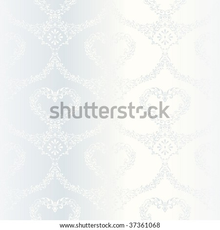 Victorian white satin wedding pattern with hearts (JPG); a vector version is also available - stock photo
