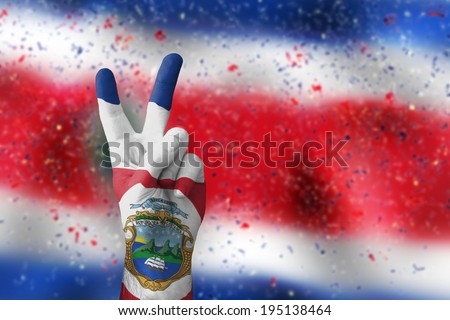 victory for Costa Rica - stock photo