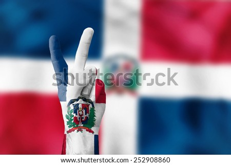 victory for Dominican Republic - stock photo