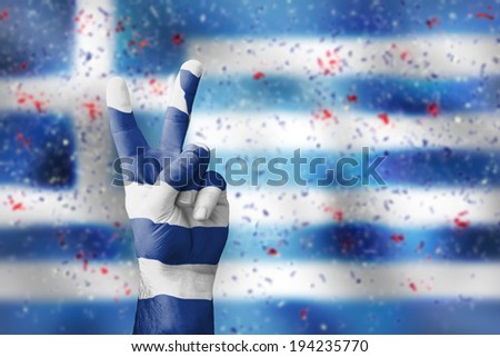 victory for Greece - stock photo