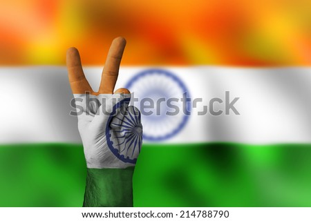 victory for India - stock photo