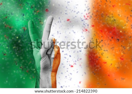 victory for Ireland - stock photo