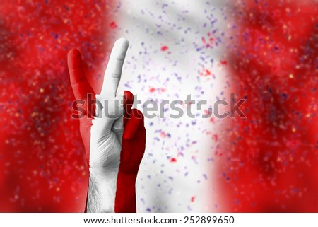 victory for Peru - stock photo