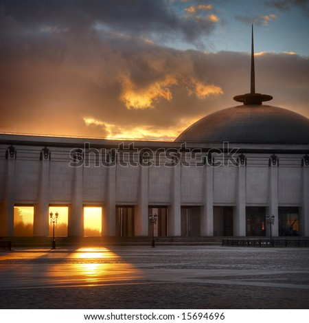 Victory memorial museum in Moscow - stock photo