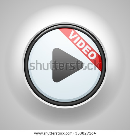 Video Button sign illustration