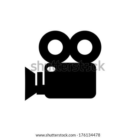 Video camera icon  - stock photo