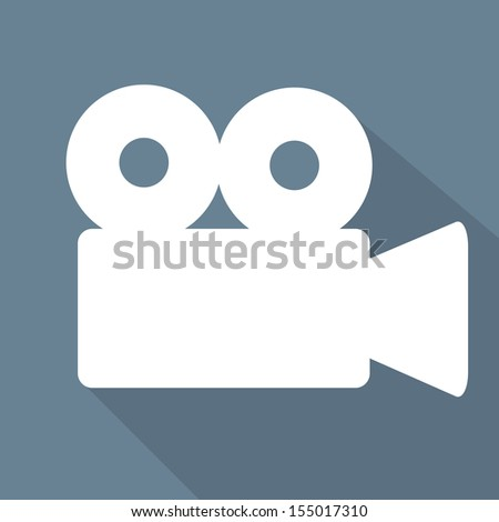 Video-camera web icon, flat design - stock photo