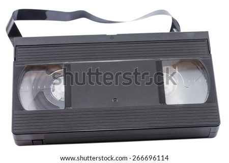 video cassette isolated on white background - stock photo