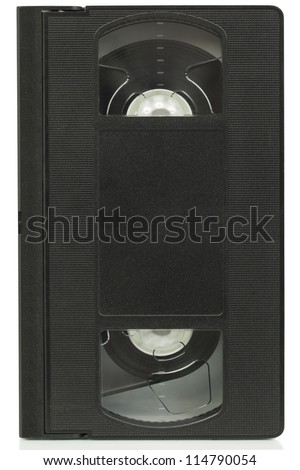 Video cassette on a white background - stock photo