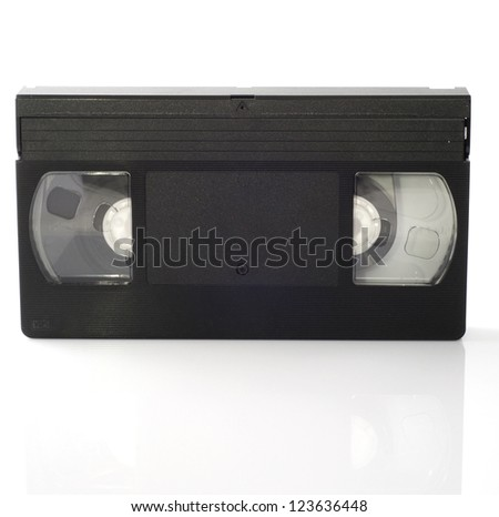 Video cassettes isolated on white background.