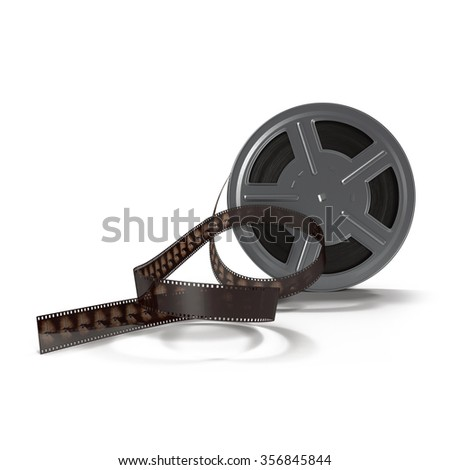 Video Film Reel on White Background