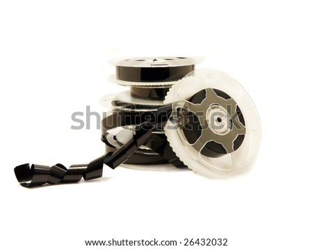 Video film tape reels - stock photo