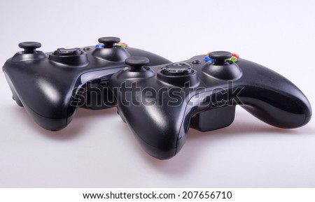 Video Game Controller childhood - stock photo