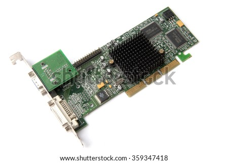 Video graphic card isolated close-up