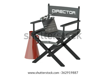 Video, movie, cinema  production concept isolated on white background