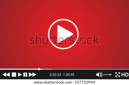 Video player template for web, - stock photo