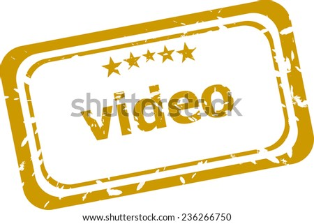 video stamp isolated on white background - stock photo
