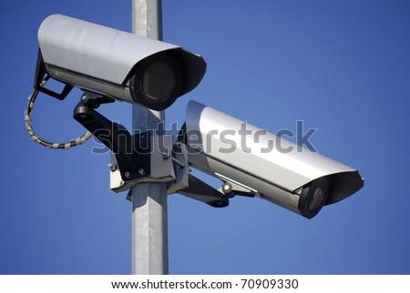 Video surveillance - stock photo