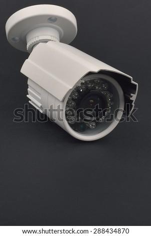 video surveillance cameras - stock photo