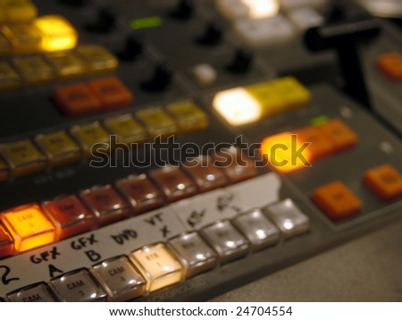 Video switcher - stock photo