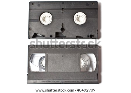 video tape isolated on white - stock photo