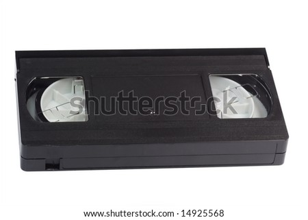 Video tape isolated on white background. - stock photo