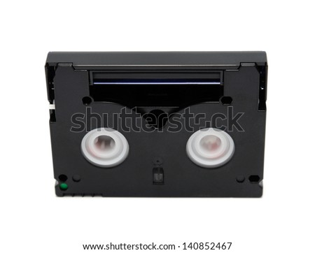 Videocassette standard miniDV isolated on a white background