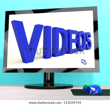 Videos Word On Computer Shows Dvd Or Multimedia