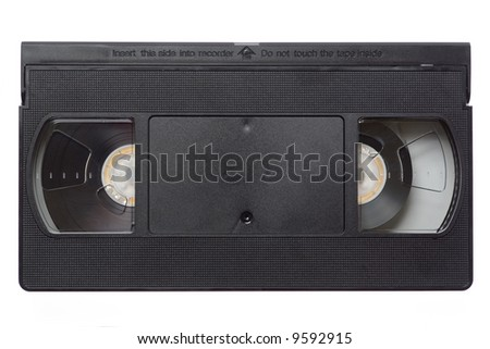 Videotape isolated