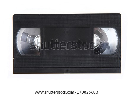 videotape isolated on the white background