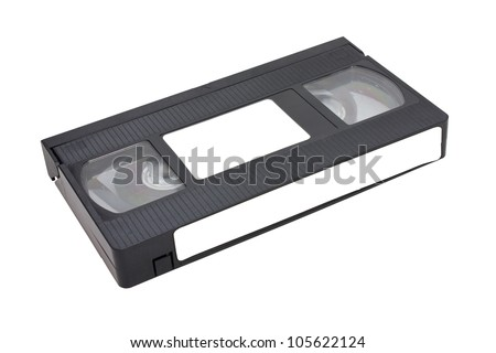 Videotape Isolated On White Background. - stock photo