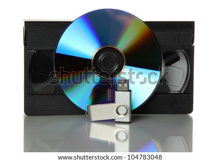 videotape with dvd and usb stick