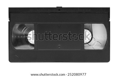 Videotape with empty label area, logos removed.