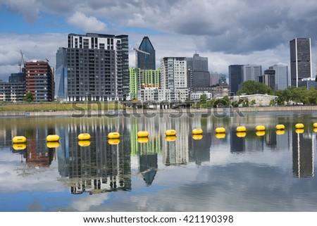 Vie Port. City View. Montreal. Quebec. Canada - stock photo