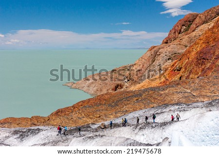 Viedma Lake and Glacier, Argentina. - stock photo