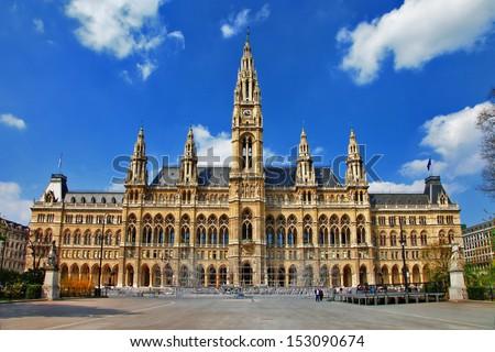 Viena, City hall. Austria - stock photo