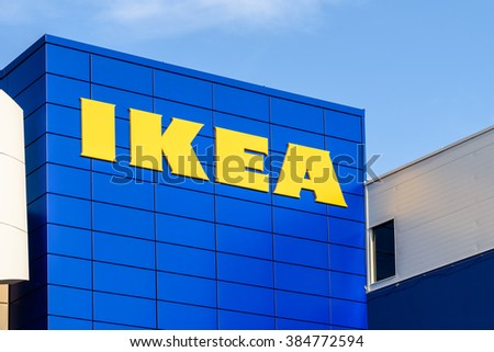 VIENNA, AUSTRIA - AUGUST 11, 2015: IKEA Store is a Swedish company registered in the Netherlands that designs and sells ready-to-assemble furniture, appliances and home accessories. - stock photo
