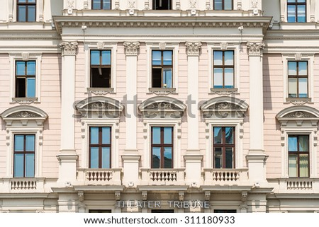 VIENNA, AUSTRIA - AUGUST 05, 2015: The Theater Die Neue Tribune was founded in 1953 and is located at Universitatsring in the basement of Cafe Landtmann , is the oldest small stage in Vienna.