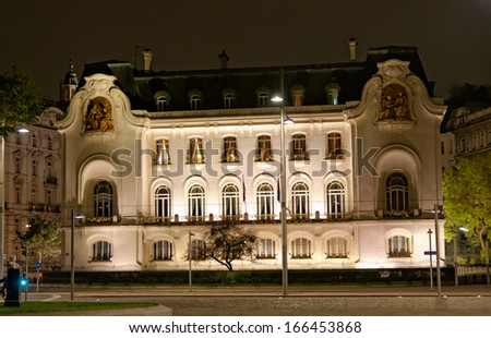 Vienna, Austria - French Embassy building. The Old Town is a UNESCO World Heritage Site. - stock photo