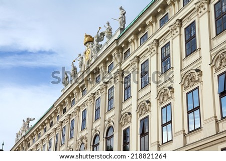 Vienna, Austria - Hofburg Palace courtyard. The Old Town is a UNESCO World Heritage Site. - stock photo