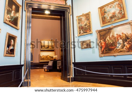 VIENNA, AUSTRIA - JUNE 10: Collection of paintings of Kunsthistorisches Museum with artworks from 14th centure on June 10, 2016. Musem was opened in 1891. It's among 100 most visited museums worldwide