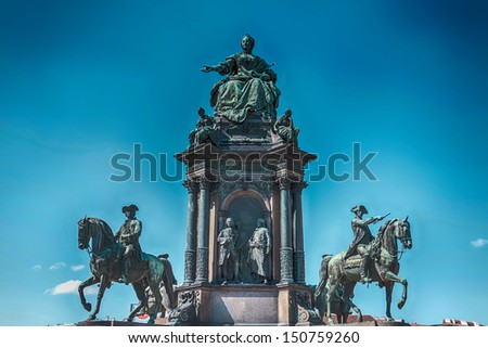 Vienna, Austria - Maria Theresia and Natural History Museum. The Old Town is a UNESCO World Heritage Site. - stock photo