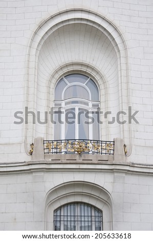 VIENNA, AUSTRIA - MAY 3: Detail from the building of French embassy on May 3, 2014 in Vienna. The building was built to glorify the relationship between France and the great Austro-Hungarian empire.