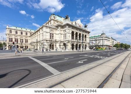 VIENNA, AUSTRIA - MAY 15, 2012: The State Opera House (german Staatsoper) of Vienna - Austria - stock photo