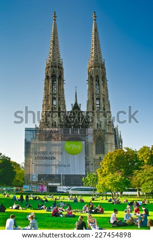 The Ring Vienna S Casual Luxury Hotel Vienna: Votivkirche Stock Photos, Images, & Pictures