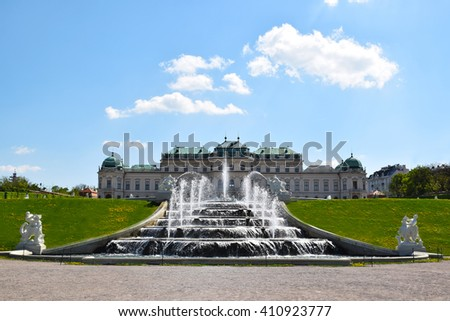 Vienna - Belvedere, Fontaine and Upper Belvedere