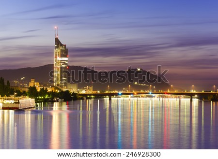 Vienna city at night - stock photo