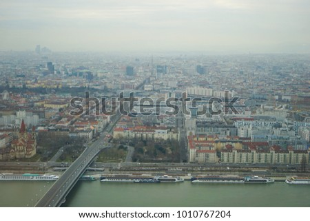 Vienna City Skyline From Across The Danube