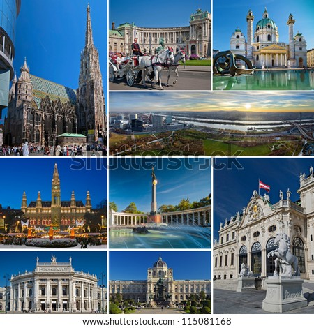 Vienna Collage - stock photo