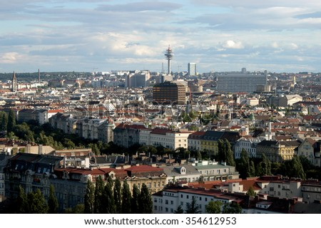 Vienna, European city - A panoramic view of the city of Vienna in Austria